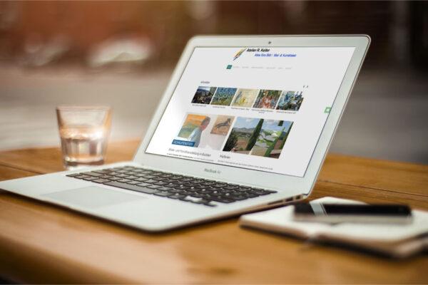 Webseite Atelier R. Keller, Desktop-Ansicht