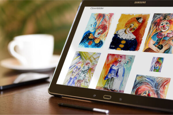 Webseite Atelier R. Keller, Tablet-Ansicht