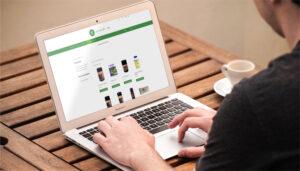 Webseite Care for Life, Desktop-Ansicht