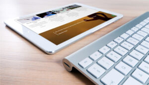 Webseite Care for Life, Tablet-Ansicht