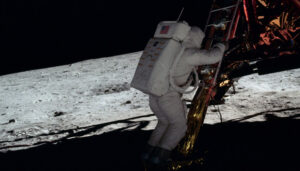 Screenshot aus Animationsfilm «Landing a man on the moon»