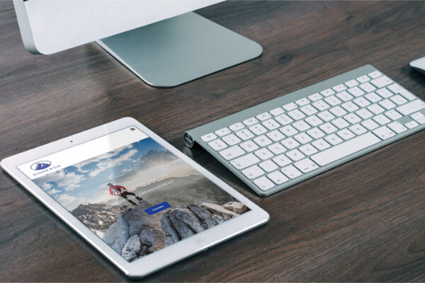 Webseite Starke & Cie, Tablet-Ansicht